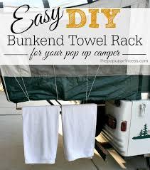 pop up camper mods bunkend towel rack