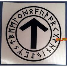 Live Fast Tyr Warrior Rune Vinyl Decal Sticker Asatru Thor Pagan Viking Odin Nordic Runes