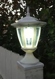 Solar Deck Post Cap Lights With Carriage Lanterns Wood Vinyl Posts
