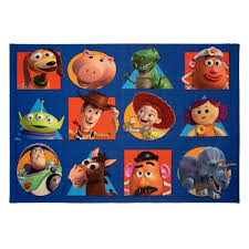 Disney Toy Story Squares Multi Colored 4 Ft X 6 Ft Novelty Indoor Area Rug 31204 The Home Depot