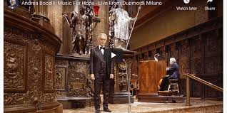 VIDEO: Andrea Bocelli: Music For Hope – Live From Duomo di Milano ...