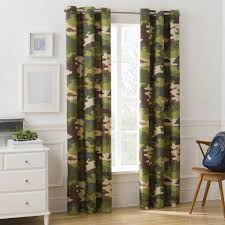 Mainstays Kids Camouflage Room Darkening Single Window Curtain Walmart Com Walmart Com