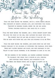 twas the night before the wedding ms