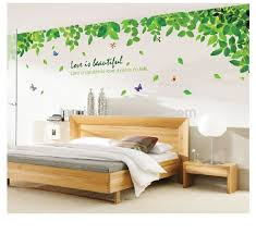Large Size Spring Green Leaves Wall Decal Buy Transparent Wall Decal Vinyl Tree Wall Decals Islamic Wall Decal Product On Alibaba Com