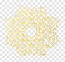 Mandala Wall Decal T Shirt Clothing Womens Chiffon Top Gold Transparent Transparent Png