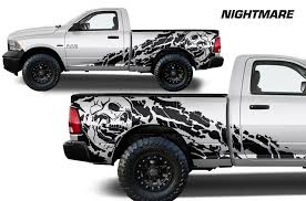 Dodge Ram 1500 2500 2009 2018 6 5 Bed Custom Vinyl Decal Kit Night Factory Crafts
