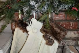 hanging stockings on brick