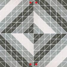 triangle geometric mosaic floor tiles