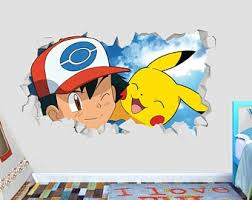 Pokemon Wall Sticker Etsy