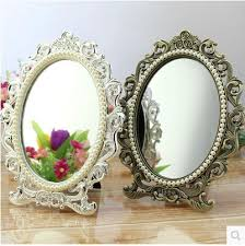 small makeup mirror with stand