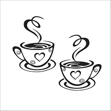 Amazon Com Creatiee Coffee Tea Cup Art Wall Decal Sticker Removable Diy Vinyl Mug Decal Wallpaper For Kitchen Home School Office Shop Cafe Pub Restaurant Hotel Wall Decor Dress Up Your Style