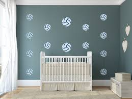 Volleyball Nursery Wall Art Sports Theme Vinyl Wall Decals For Nurse Kinacle