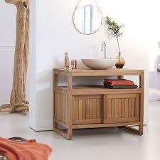 tikamoon solid teak wood vanity cabinet