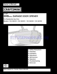 craftsman garage door opener 139 18452d