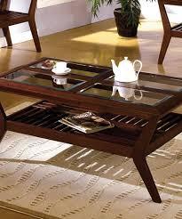 elegant glass top coffee table
