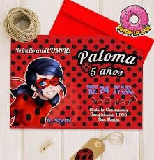 Tarjetas Invitaciones Digital Miraculous Ladybug 100 00 En