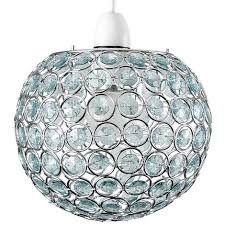 ceiling light shade with duck egg blue