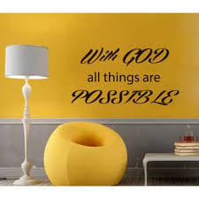 Shop Prayer Words With God All Things Are Possible Vinyl Sticker Home Decor Interior Design Sticker Decal Size 22x30 Color Black Overstock 14441588