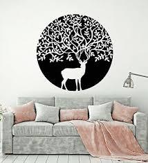 Vinyl Wall Decal Deer Animal Reindeer Tribal Tree Nature Stickers Mural G2991 Ebay