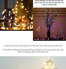 Bộ đèn led chiplings ball trang trí nhà cửa, dây đèn trang trí phòng ngủ  cổng sạc usb sợi trong suốt với 20,30,40 bóng bi 2cm (dùng củ sạc điện  thoại, pin
