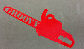 Groovy Evil Chainsaw Decal Horror Movie Inspired Car Window Etsy