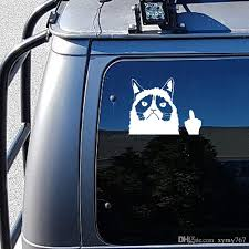 Car Stying Grumpy Cat Flippin Off Funny Cool Graphics Car Window Sticker Vinyl Decal New Design Jdm Canada 2020 From Xymy767 Cad 1 77 Dhgate Canada