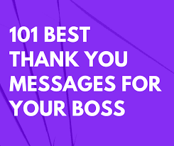 thank you messages for your boss