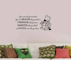 Walt Disney Winnie The Pooh Quote Wall Sticker Bear Vinyl Decal Art Decor Wtpo15 611267257153 Ebay