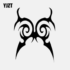 Yjzt 9 8cm 13cm Butterfly Tribal Decal Vinyl Decal Car Sticker Black Silver C24 0005 Car Stickers Aliexpress