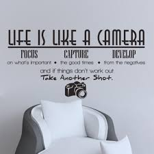 Free Shipping Removable Life Is Like A Camera Quote Wall Stickers Decals Office Study Decoration Mural Diy Decoration Murale Wall Stickerquote Wall Sticker Aliexpress
