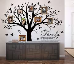Amazon Com Luckkyy Grant Family Tree Wall Decal With Family Like Branches On A Tree Quote Wall Decal Tree Wall Sticker 83 Wide X 83 High Black Home Kitchen
