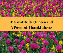 gratitude quotes and a poem of thankfulness