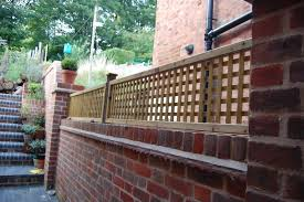 Edwardian House Project Lattice Trellis Fixed On Brick Wall Brick Wall Gardens Wall Trellis Brick Fence