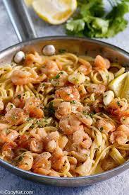 ss garlic shrimp pasta with white