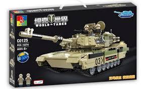 Woma C0125 (NOT Lego Tank Battle Abram M1A2 ) Xếp hình Xe Tăng ...