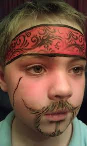 funny pirate make up for big and small
