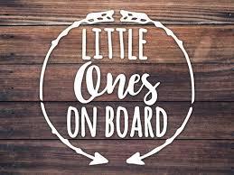 Little Ones On Board Babies On Board Car Decal Twins Kids In Etsy Car Window Stickers Family Car Decals Family Car Stickers