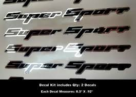 Product 2 Super Sport Decals Rally Sport Chevy Camaro Chevrolet Ss Wow 0012
