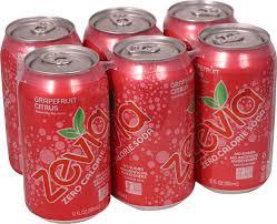 zevia zero calorie soda gfruit