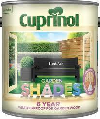 Cuprinol 5083469 Garden Shades Exterior Woodcare Black Ash Amazon Co Uk Diy Tools