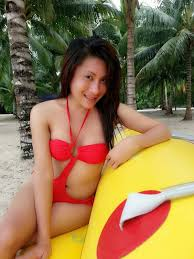 ladyboy on the beach