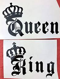 King Queen Crowns Black Vinyl Decal New Gift Old Cro Https Www Amazon Com Dp B07p5pctrk Ref Cm Sw R Pi Dp X Car Decals Vinyl Letter Decals Car Decals