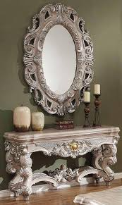 homey design hd 272 traditional silver