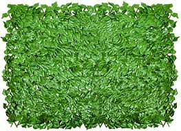 Amazon Com Ecoopts Artificial Ivy Leaf Expandable Stretchable Privacy Fence Screen Single Side Leafs And Vine Decoration For Outdoor Garden Yard 1 Pack Garden Outdoor