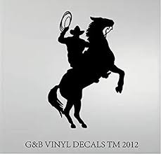 Cowboy Horse Rider Western Wall Decal Home Decor Silhouette 20 X 13 Wall Decor Stickers Amazon Com