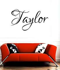 Amazon Com Huanyi Taylor Girl Name Or Boy Name Room Name Wall Quote Art Vinyl Decal Sticker Home Kitchen