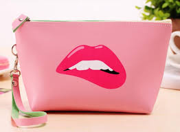 pink lips makeup bag badbeez