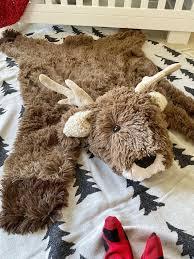 Deer Rug Nursery Animal Rug Woodland Nursery Rugs By Claraloo Etsy