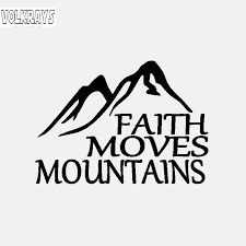 Volkrays Creative Car Sticker Faith Moves Mountains Jesus God Christian Holy Bible Reflective Vinyl Decal Black Silver 9cm 13cm Car Stickers Aliexpress