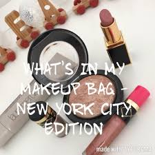 what s in my makeup bag new york